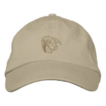 Bull Head Outline Embroidered Baseball Hat