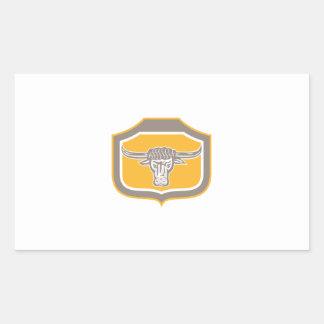 Bull Head Snorting Shield Retro Stickers