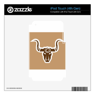 Bull head tribal decal for iPod touch 4G