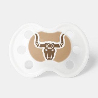 Bull head tribal pacifier