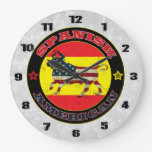 Bull hispanoamericana reloj redondo grande