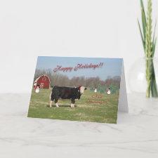 Bull Humbug Christmas Card card