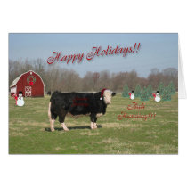 Bull Humbug Christmas Card