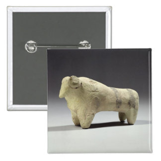 Bull in the Ubaid style, c.4000-3500 BC (terracott Pinback Button