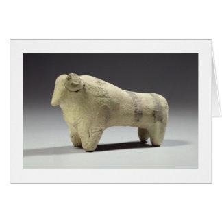 Bull in the Ubaid style, c.4000-3500 BC (terracott Card