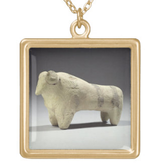 Bull in the Ubaid style, c.4000-3500 BC (terracott Square Pendant Necklace