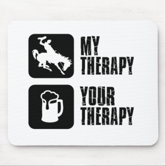 bull is my therapy mouse pad