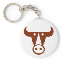 Bull Keychain