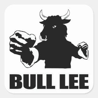 Bull Lee Pegatina Cuadrada