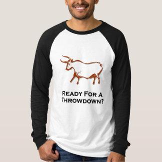 Bull lista para un Throwdown Brown Remeras