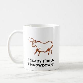 Bull lista para un Throwdown Brown Taza De Café