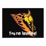 Bull llameante #2 invitación 12,7 x 17,8 cm