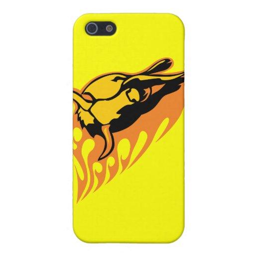 Bull llameante #2 iPhone 5 fundas