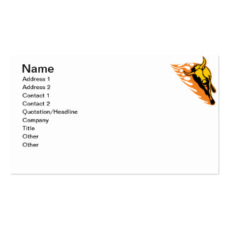 Bull llameante 2 tarjeta de negocio