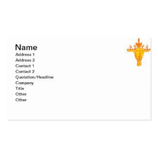 Bull llameante 3 plantilla de tarjeta de negocio
