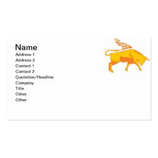 Bull llameante 7 tarjeta de visita