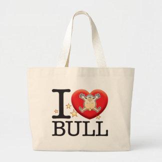 Bull Love Man Jumbo Tote Bag