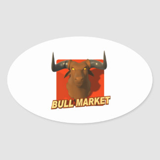 Bull Market 2 Oval Sticker