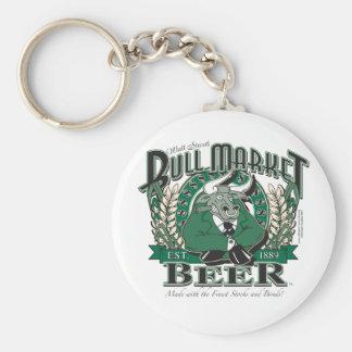 Bull Market Beer - Wall Street Brewing Company Keychain