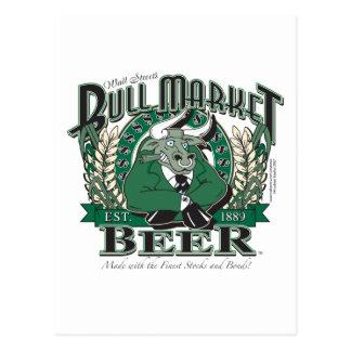 Bull Market Beer - Wall Street Brewing Company Postcard