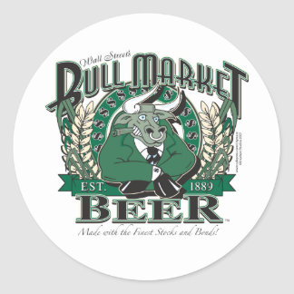 Bull-Market-CNBC-LARGE Classic Round Sticker