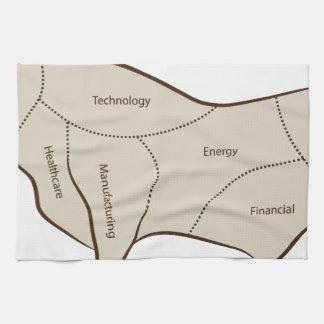 Bull Market Industry Sectors Hand Towels