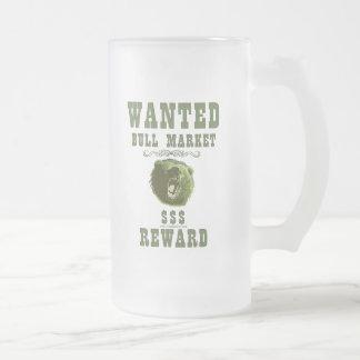 Bull Market Reward Frosted Glass Beer Mug