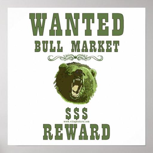 Bull Market Reward Poster