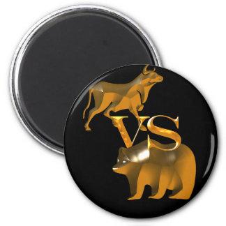 Bull Market Vs Bear Market 2 Inch Round Magnet