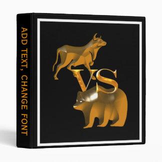 Bull Market Vs Bear Market 3 Ring Binder