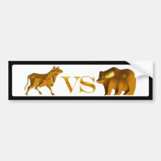 Bull Market Vs Bear Market Bumper Sticker