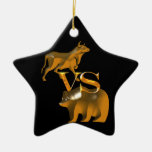 Bull Market Vs Bear Market Christmas Ornament