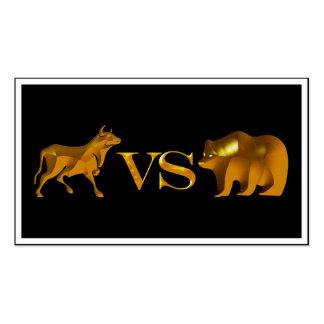 Bull Market Vs Bear Market Double-Sided Standard Business Cards (Pack Of 100)