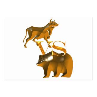 Bull Market Vs Bear Market Large Business Cards (Pack Of 100)