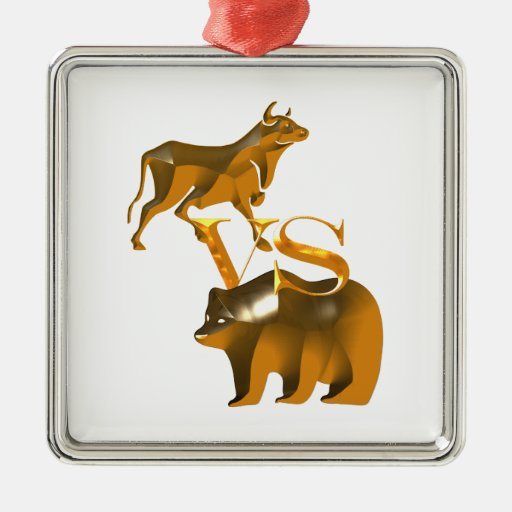 Bull Market Vs Bear Market Christmas Tree Ornaments