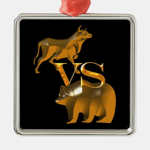 Bull Market Vs Bear Market Ornaments