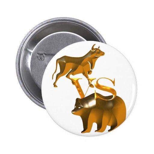 Bull Market Vs Bear Market Pinback Buttons