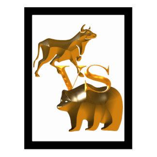 Bull Market Vs Bear Market Postcard