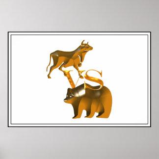 Bull Market Vs Bear Market Poster