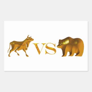 Bull Market Vs Bear Market Rectangular Stickers