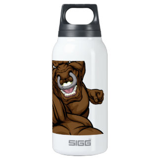 Bull mascot punching 10 oz insulated SIGG thermos water bottle
