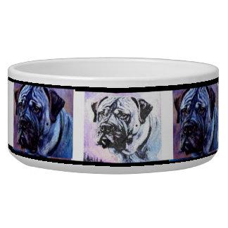 Bull-mastiff  dog dish by Ivy