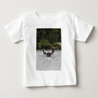 Bull moose at Sandy Stream Pond T-shirts