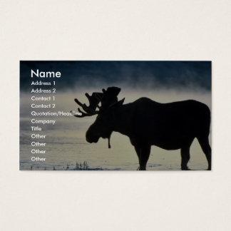 Bull moose business card