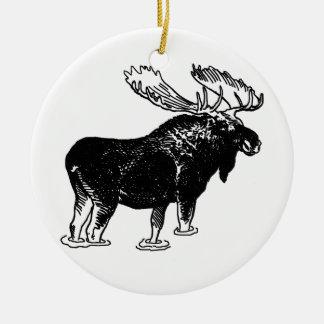 Bull Moose Ceramic Ornament