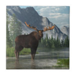Bull Moose Ceramic Tile at Zazzle