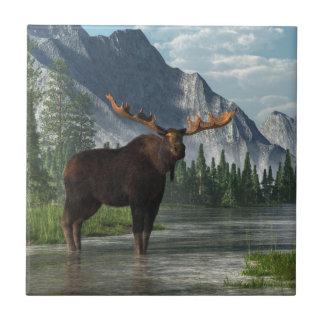 Bull Moose Ceramic Tile