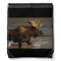 Bull Moose Drawstring Bag