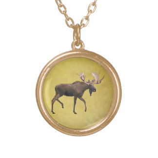 Bull Moose Gold Plated Necklace