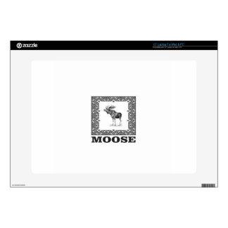 bull moose in a box laptop skins
